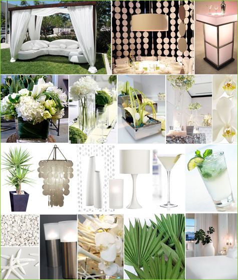 Modern White Party Inspiration Board Hostess With The